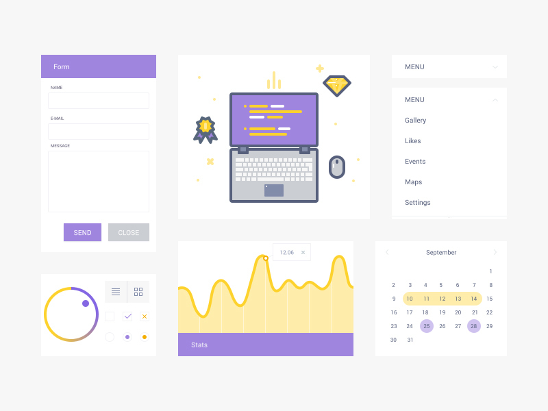 UI Kit & Illustration preview picture