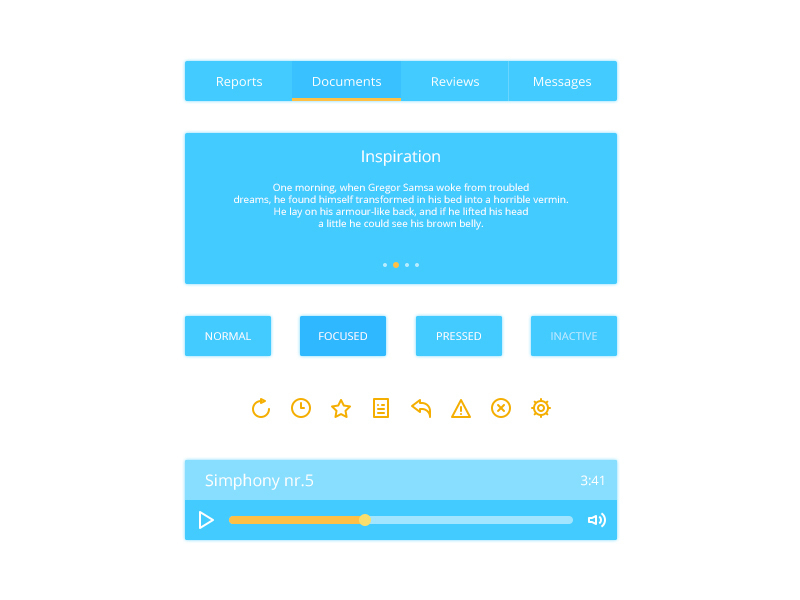 Blue Web Components UI Kit preview picture
