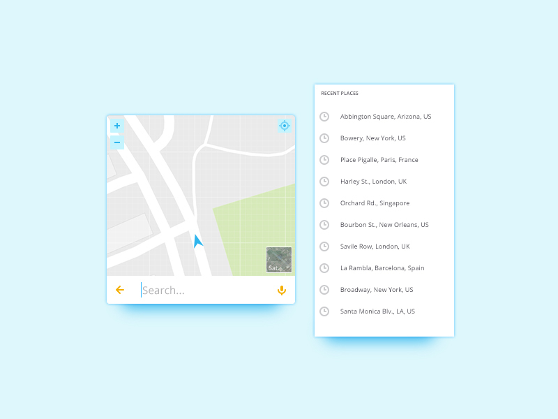 Map Widget UI preview picture