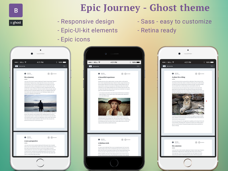 Epic-Journey Ghost theme preview picture