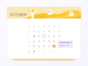 October Calendar UI