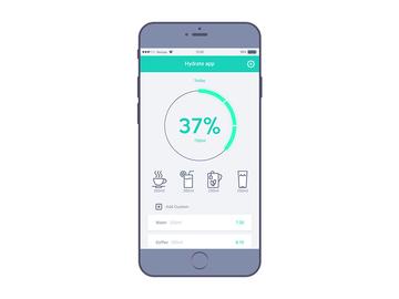 Hydrate App UI