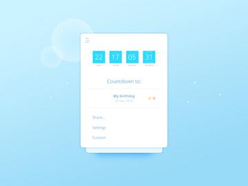 Countdown Widget UI